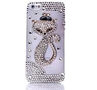 zorro con sombrero de circonio recubierto en fondo transparente para el iphone 5/5s