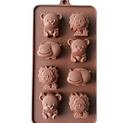 Silicone Lion,Cow&Bear Chocolate Molds Jelly Ice Molds Candy Cake Mould Bakeware