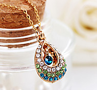 Angel crystal teardrop necklace lady short hollow diamond drop pendant necklace jewelry N566