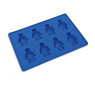 8 Holes Minifigure Robot Ice Mold Cube Tray Silicone Candy Jelly Chocolate DIY Mould Random Color