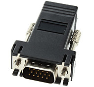DB15 Male to RJ-45 Female Modular Adaptor