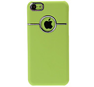 Frosted Shield With Metal Plastic Hard Case Cover for iPhone 5C