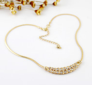 Golden Plated C Style Pendant Necklace