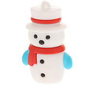 Plastic Little Christmas Snowman Model USB 4GB