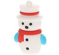 Plastic Little Christmas Snowman Modelo USB 4GB