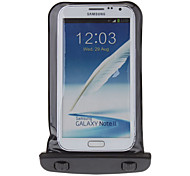Negro impermeable del bolso de la caja + Stylus Negro Kit para Samsung Galaxy S3 i8190 Mini
