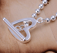 Fashion 6.4cm Women's Silver Copper Beads Bracelets