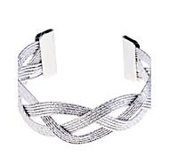 Stripe Carve Braided Cuff Bracelet(More Colors)