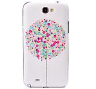 caja de plástico patrón de globo de color para Samsung Galaxy Note N7100 2