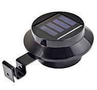 3-LED solarbetriebene Dachrinne Tür Zaun Wandleuchte Outdoor Gartenbeleuchtung