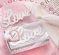 Palavras de Amor Prata Acabamento Bookmark com Tassel elegante Branco-seda