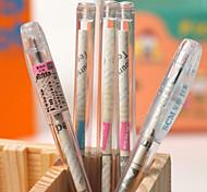 Transparente Reminiscnce Jornal Needle tubulação plástica de tinta preta Gel Pen (cor aleatória)