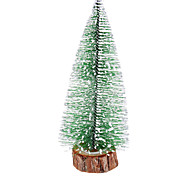 "17cm 7"" Frosted Pine Christmas Tree Desk Top Ornaments"