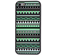 Black and Green Geometric Figure Pattern Hard Case with Matte Back Cover for iPhone 5C