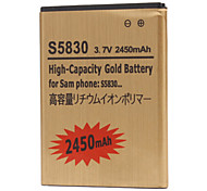 2450mAh Cell Phone Battery for Samsung S5830