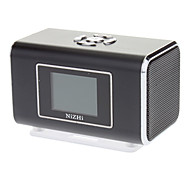 Portable Metal Stereo Speaker with TF Card Slot(Black)