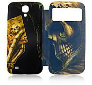 Poker Skull Plástico Lleno de Administración para su Samsung i9500 Galaxy S4