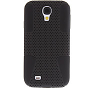 Mesh Plastic & Silicone Case for Samsung Galaxy S4 I9500