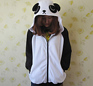 Unisex Polar Fleece Black and White Panda Kigurumi Hoddie