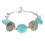 Vintage style bohème bracelet en argent plaqué de Turquoise