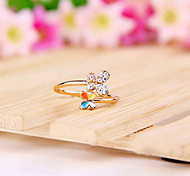 Korean Jewelry Wholesale New Hot Butterfly Flower Diamond Ring Combination