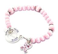 z&X® pulseira de pérolas rosa
