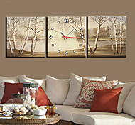 """12""""-24""""Country Style Tree TWall Clock In Canvas 3pcs"""