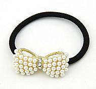 Korean Fashion Ol Lady Pearl Big Bow Hair Tie