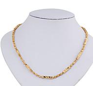 ouro liga colar banhado xl0002