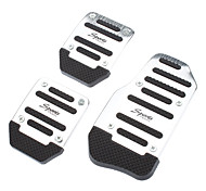 Universal Slip-Proof Vehicle Gas-Brake-Clutch Pedals Kit (3-Piece Set)