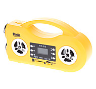 HY-S3 SD/TF Music Box/Radio/LED Electric Torch Multifunction Speaker(Yellow)