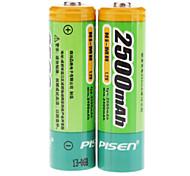 Pisen 2500mAh Ni-MH recargables AA (Paquete de 2 baterías)