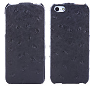 For iPhone 5 Case Embossed Case Back Cover Case Solid Color Hard PU Leather iPhone SE/5s/5