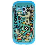 Cockhorse Pattern Abnehmbare TPU und Kunststoff zurück Tasche für Samsung Galaxy S3 I8190 Mini