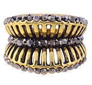 Vintage Style Drill Holllow Out Alloy Ring