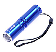 KX-H60 Cree XP-E R2 210LM 3-Mode White Zoom Flashlight - Blue(1 x 14500 / 1x AA)