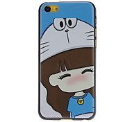 Cartoon Designed A Lovely Little Girl Pattern Hard Case for iPhone 5C