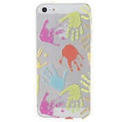 Colorful Palm Pattern Transparent Protective Soft Case for iPhone 5/5S