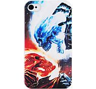 Blue Skull Fondello Rosso per iPhone 4/4S