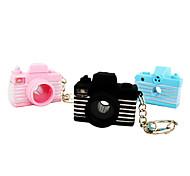 Macchina fotografica del PVC di figura LED Mini-Portachiavi (colore casuale)