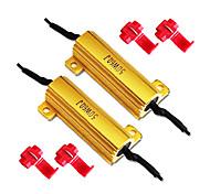 50W 6ohm resistencias de carga de LED intermitentes o luces de la matrícula (Fijar Hyper Flash, Warning Cancellor)