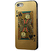 Poker Cards Design Hard Case for iPhone 5/5S/5G(King Red Or King Black)