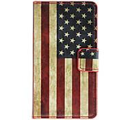Bandera americana patrón de caso completo de cuerpo con ranura para tarjeta de HuaWei Y300