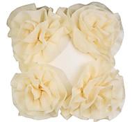 Moderne Quatre Fleurs Floral Polyester Coussin décoratif