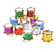 "12-Pack 3cm 1"" Sequin Drums Christmas Ornaments Pack"
