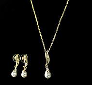 women's Pearl Jewelry Set(Necklace&Earring)