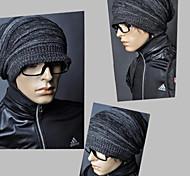 drapeado sombrero de los hombres knited