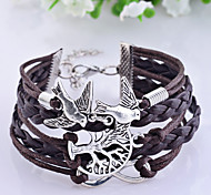 Vintage Infinate Life Tree Birds Braided Bracelet