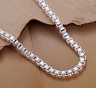 Fashion 19cm Women's Silver Copper Chain Bracelets
