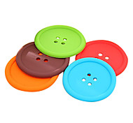 Multi-color Silicone Round Coasters